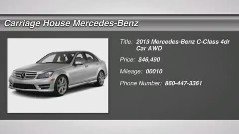 2013 c serisi mercedes benz for Mercedes benz new london ct
