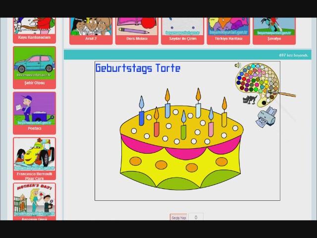 Doğum Günü Pastası Oyunu Izlesenecom