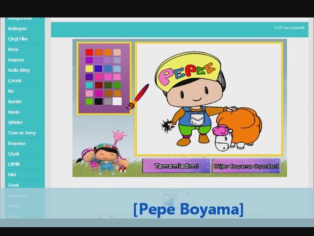 Pepe Boyama Oyunu Izlesenecom