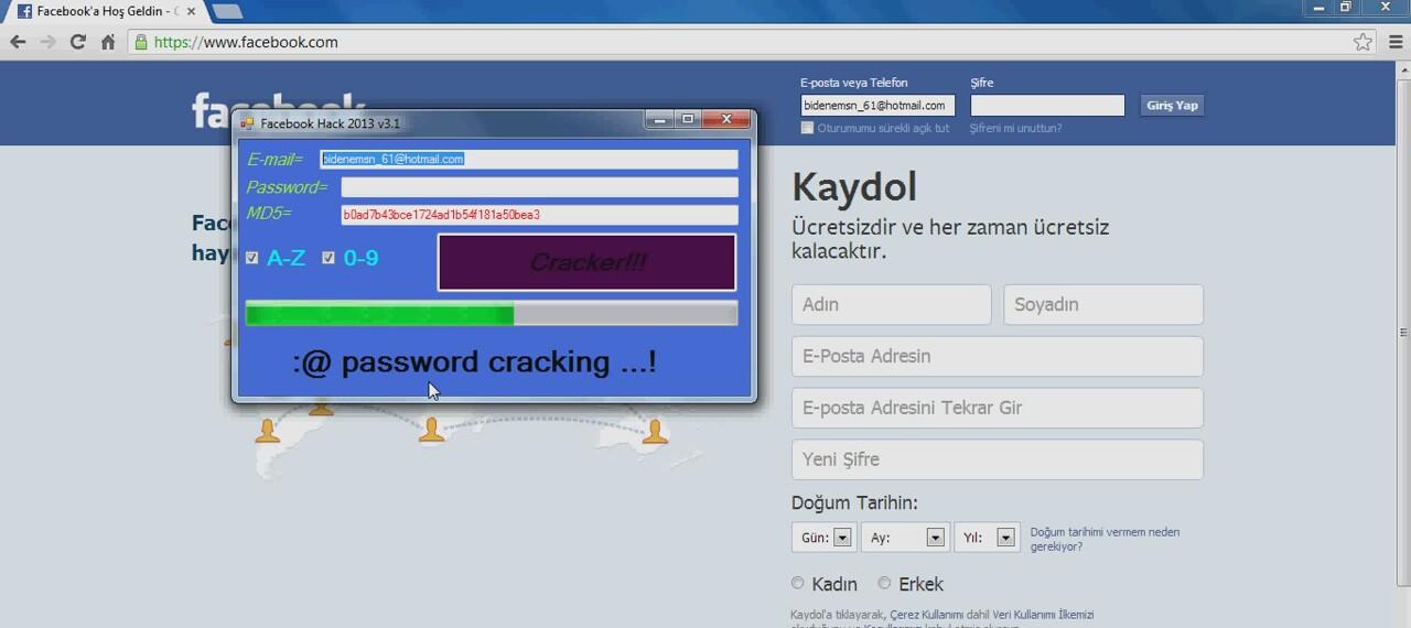Facebook Şifre Kırma Patlatma Programı indir – mirc indir , mirc , türkçe mirc