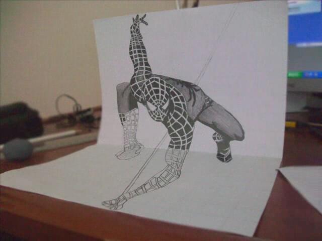 3 Boyutlu Karakalem Spider Man Izlesenecom