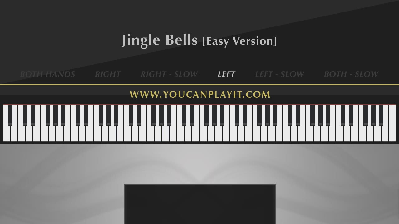 Müzik Dersi : Jingle Bells Easy Piano Tutorial Parmak Pozisyonları ...