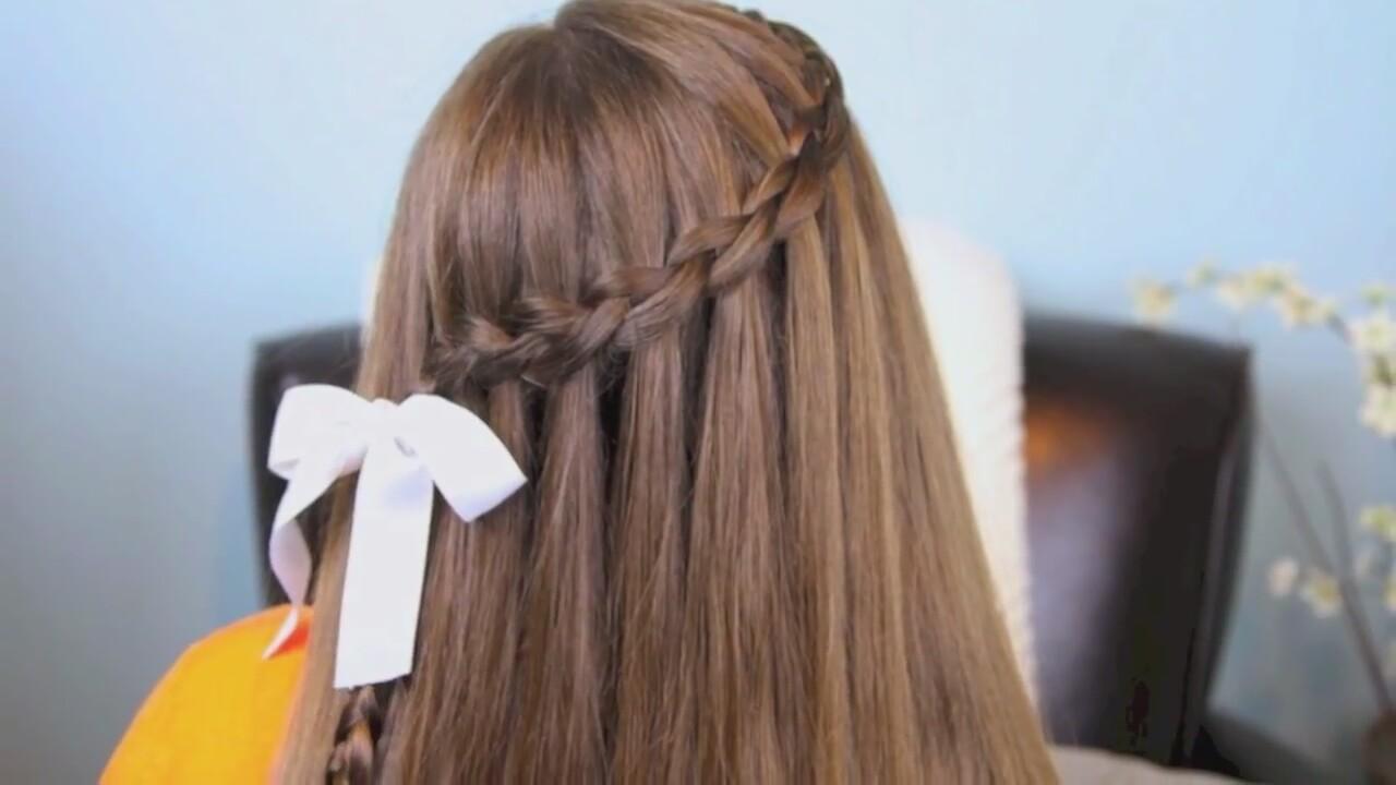 Şelale Modeli Saç Örgüsü Yapılışı Video
