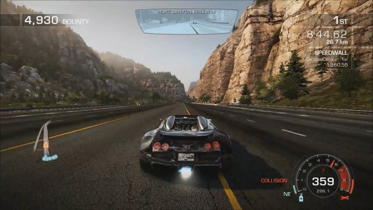 nfs hot pursuit final race son yar with bugatti veyron. Black Bedroom Furniture Sets. Home Design Ideas
