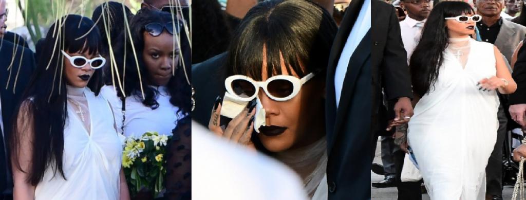 Rihanna Kuzeninin Cenazesinde Beyazlar İçinde