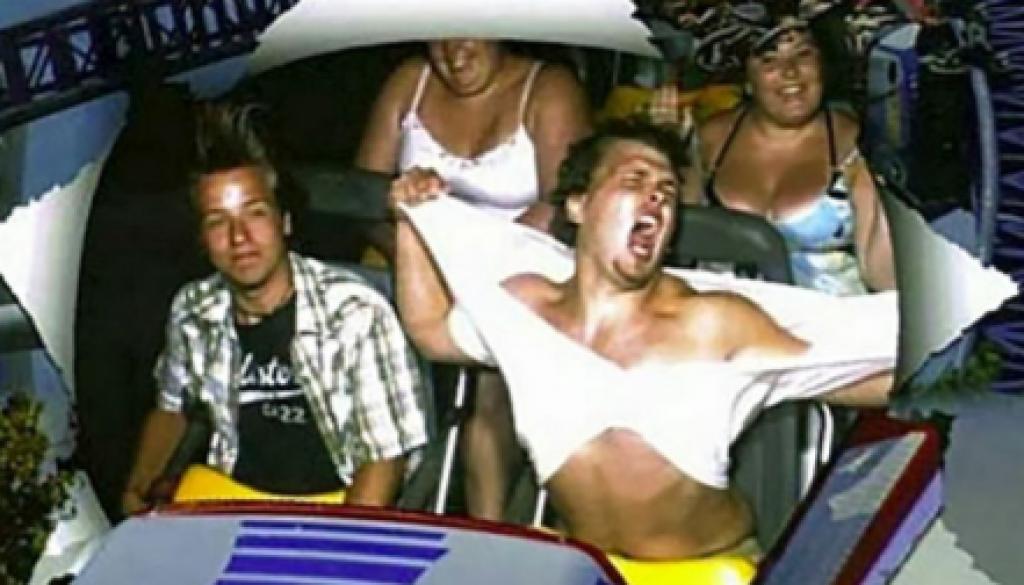 Lunaparkta Hız Trenine Binen İnsanların Güldüren Kareleri