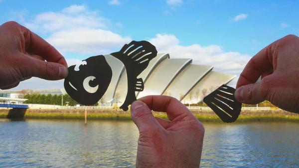 Birkaç Kağıt Parçasıyla Mimarilere Hayat Veren Sanatçının Eserleri