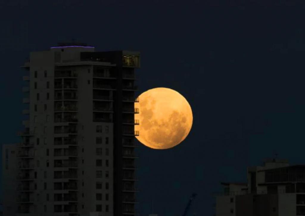 Süper Kanlı Mavi Ay Tutulması, perth, avustralya