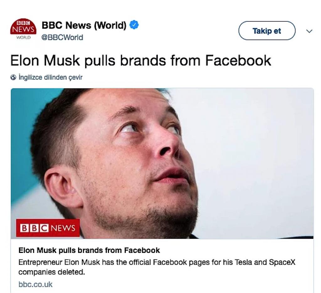 elon musk, facebook, twitter, haber, spacex, tesla,bbc