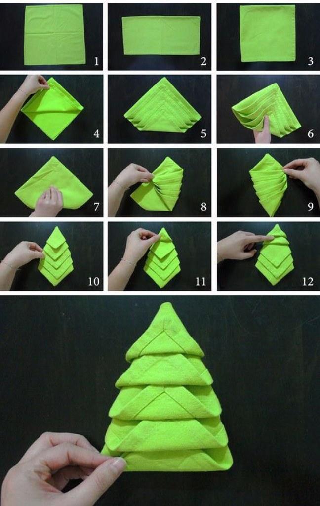 елка из салфетки своими руками пошаговая инструкция