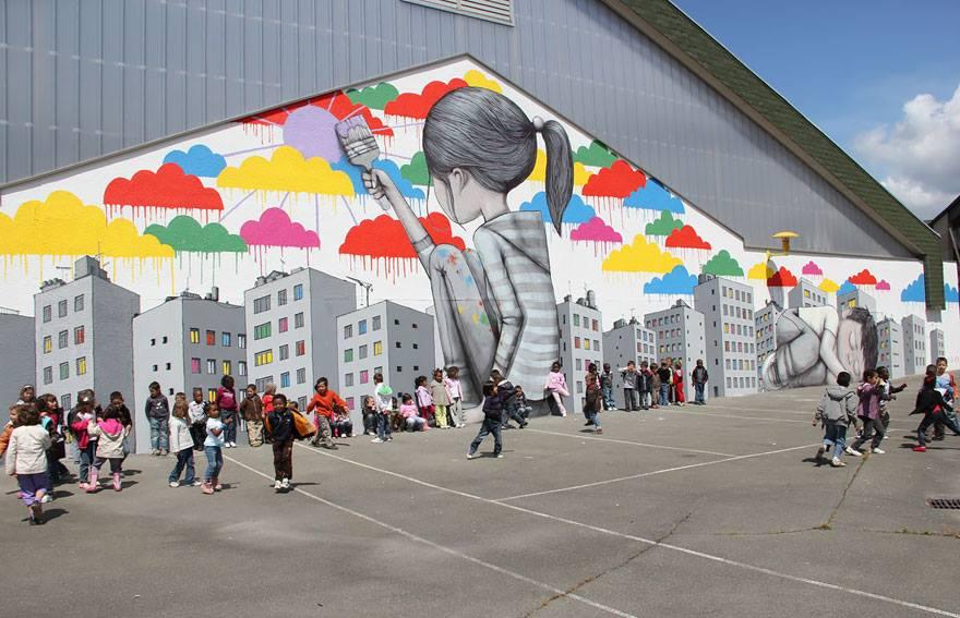 Binaları Sanatı ile Sıkıcı Olmaktan Kurtaran Sanatçı Julien Malland