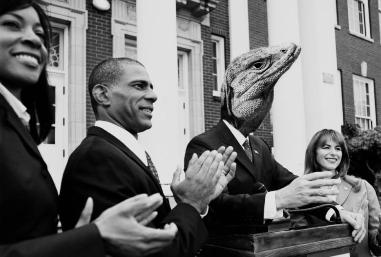 reptilian siyasi liderler