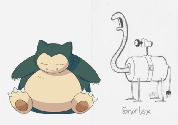 Pokemonlar'ın Yeniden Tasarlanarak Çizilmesi