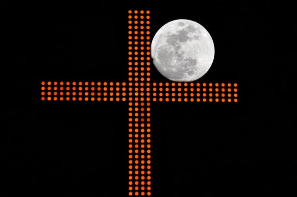 Süper Kanlı Mavi Ay Tutulması, lübnan, beyrut