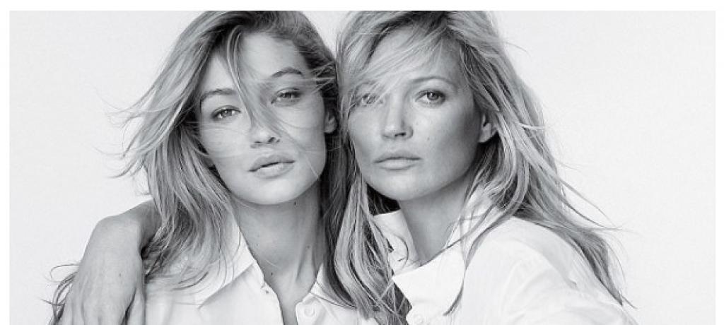 Gigi Hadid ve Kate Moss'un Bu Pozları Efsane Olacak!