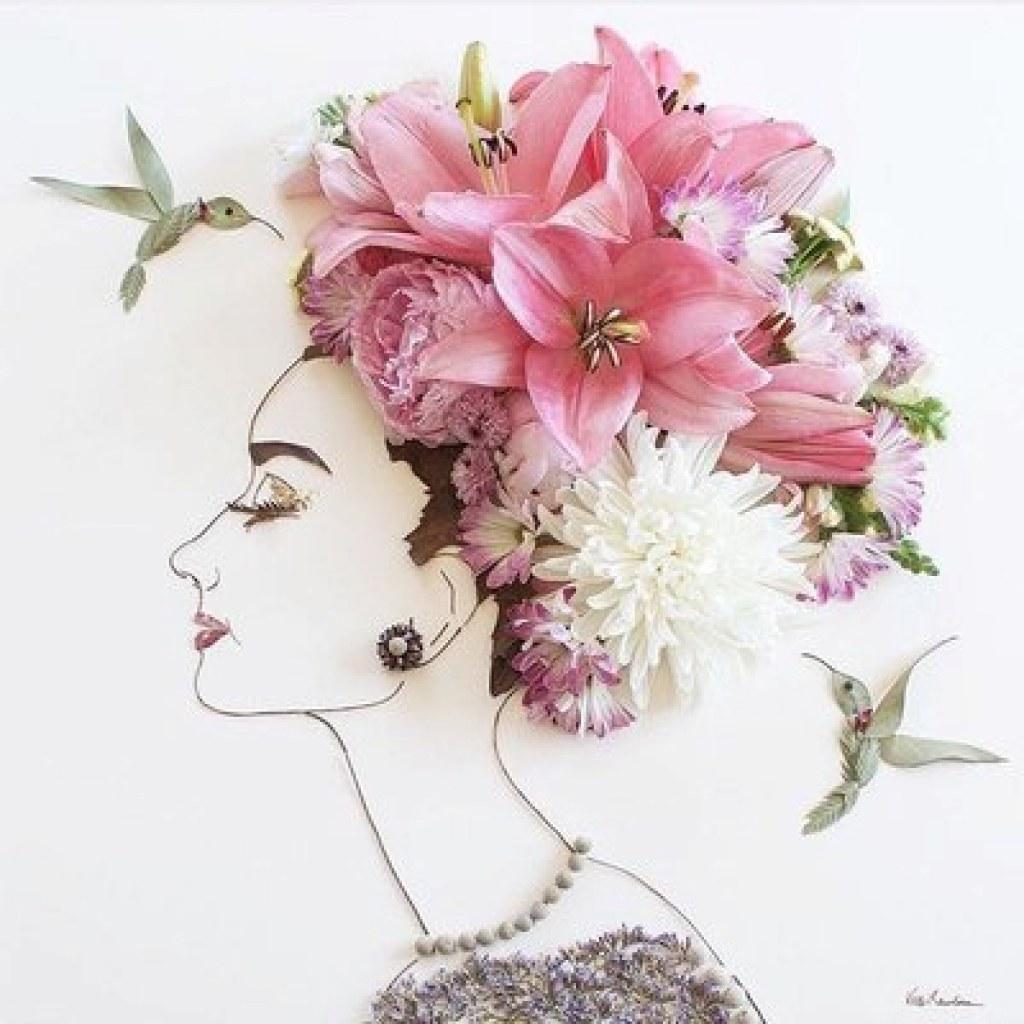 Çiçeklerle Portreleri Renklendiren Müthiş Sanatçı: Sister Golden