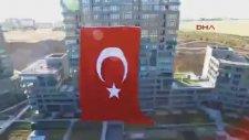 Ankara'da Dev Türk Bayrağı Asıldı