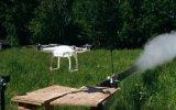 Drone'nin Katana Kılıcı İle Parçalanması