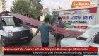 Kamyonetteki Çinko Levhalar 5 Kişinin Bulunduğu Otomobilin Arka Camından İçeri Girdi