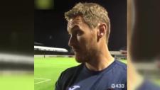 Exeter City teknik direktörü Matt Taylor'ın sinekle imtihanı