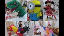 Lera Kostüm Challenge Yaptık, Minyon, Dinozor, Palyaço, Elsa En Güzeli Hangisi