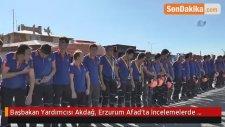 Başbakan Yardımcısı Akdağ, Erzurum Afad'ta İncelemelerde Bulundu