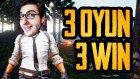 3 Oyun 3 Zafer - Playerunknown's Battlegrounds Türkçe(Pubg)