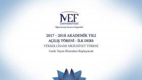MEF Üniversitesi 2017 - 2018 Akademik Yılı Açılış Töreni