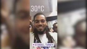 Galatasaray'ın Yıldız Futbolcusu Denayer Tramvayda