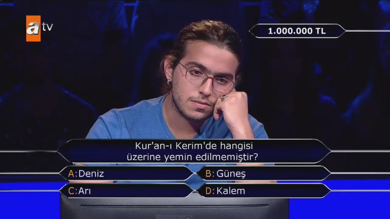 İşte 1 milyonluk soru