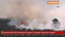 General Nurettin Baransel Kışlası Ormanlık Alanında Yangın