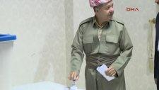 IKBY Referandumunda Barzani'nin Oy Kullanması