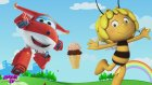 Ağlayan Bebek Arı Maya ve Jet Dondurma Yiyerek Renkleri Öğreniyor.