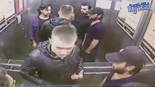 Asansörde 3 Kişiyi Nakavt Eden Boksör Kılıklı Rus