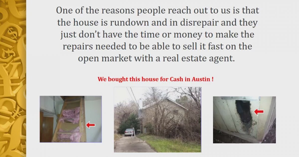 Cash for my house austin tx do i need to make repairs to for What do i need to do to build a house