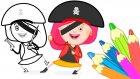 #çizgifilm Smarta'nın Sihirli Çantası! Smarta-Korsan Hazineyi Buluyor! Renkleri Öğrenelim