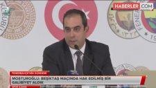 Fenerbahçe Asbaşkanı Mosturoğlu, Fikret Orman'ın Açıklamalarına Sert Çıktı