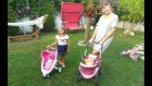 Elifn Yeni Bebek Arabası İle Bahçede Gezinti Nar Topluyoruz. Bebişte Bizimle