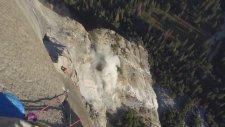 Dağcıların El Capitan Tırmanışı Sırasında Yaşanan Kaya Göçmesi
