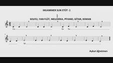 1. Etüt Muammer Sun Etüt 1 Solfej Blok Flüt Piyano Keman Gitar Müziği Sevdirme Yolları