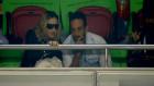 Madonna Portekiz maçında tribünde