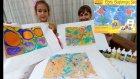 EBRU BOYAMA SANATI BAŞLANGIÇ SETİ İLE EBRU ÇALIŞMASI YAPTIK, Eğlenceli çocuk videosu
