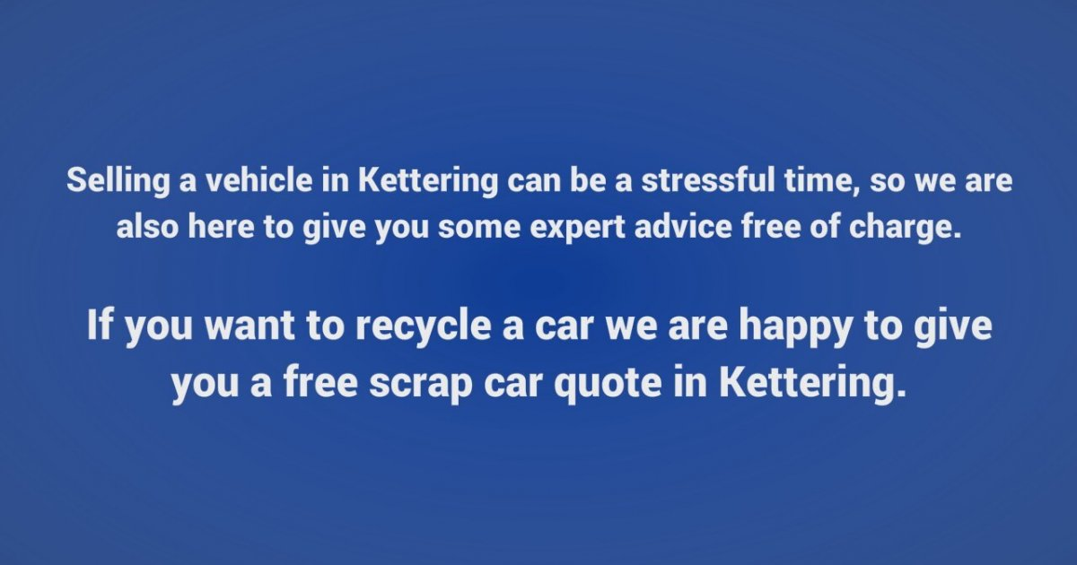get a free scrap car quote in kettering zlesene