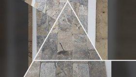 Antik Gümüş Traverten Zemin ve Duvar Kaplama Dekor Doğaltaş
