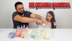 Balon Patlatmalı Slime Challenge !! İçlerinden Ne Çıkarsa Şansına