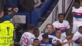 Everton - Lyon Maçında Çıkan Kavga