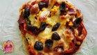 Bazlama Pizza Nasıl Yapılır | Evde Pastırmalı ve Sucuklu Pizza Tarifi