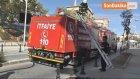 Gaziantep'te Metruk Bina Yangın