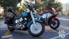 Cbr1000rr Ve Harley -Kanyon Virajları - Kaliforniya - Tektabanca