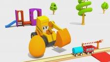 Ekskavatör Max - Max Sürpriz Yumurtadan Lokomotif  Buluyor! (Max Hide And Seek 26 Toy Train)